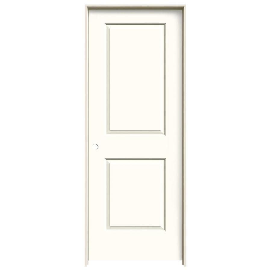 JELD-WEN Cambridge Moonglow Prehung Solid Core 2-Panel Square Interior Door (Common: 24-in x 80-in; Actual: 25.562-in x 81.688-in)