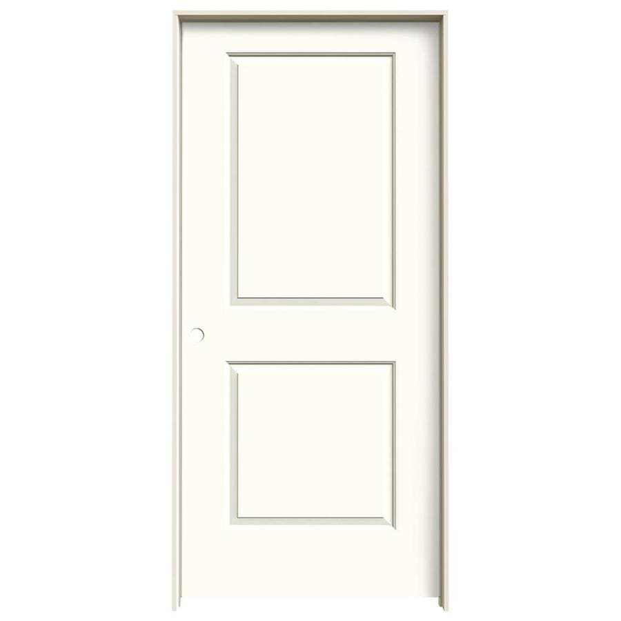 JELD-WEN Cambridge Moonglow Solid Core Molded Composite Single Prehung Interior Door (Common: 36-in x 80-in; Actual: 37.5620-in x 81.6880-in)