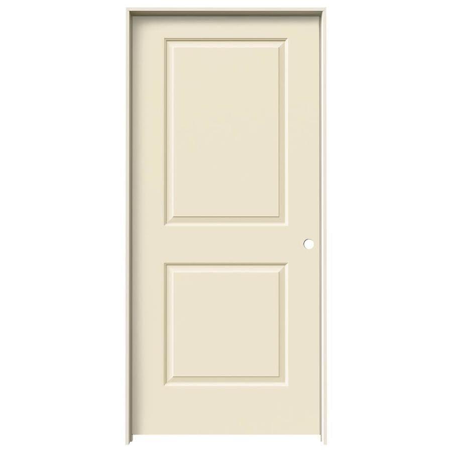 JELD-WEN Cambridge Cream-N-Sugar Solid Core Molded Composite Single Prehung Interior Door (Common: 36-in x 80-in; Actual: 37.562-in x 81.688-in)