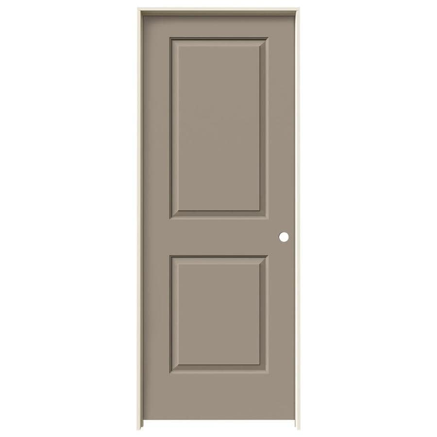 JELD-WEN Cambridge Sand Piper Prehung Solid Core 2-Panel Square Interior Door (Common: 28-in x 80-in; Actual: 29.562-in x 81.688-in)