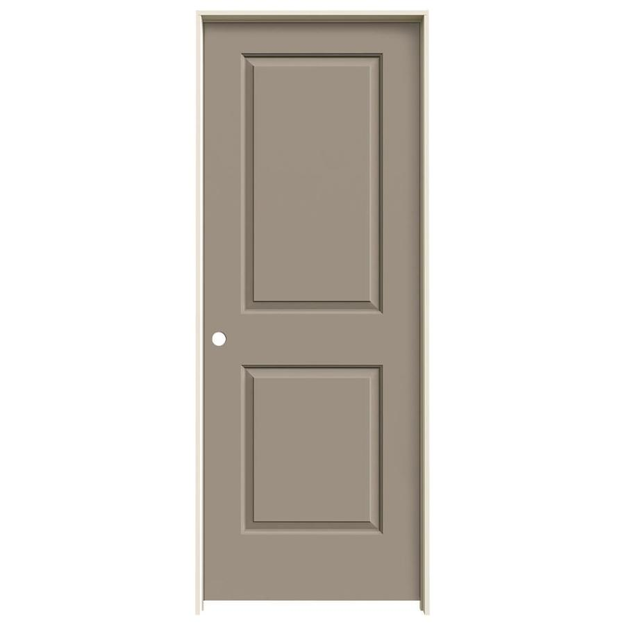 JELD-WEN Cambridge Sand Piper Prehung Solid Core 2-Panel Square Interior Door (Common: 32-in x 80-in; Actual: 33.562-in x 81.688-in)