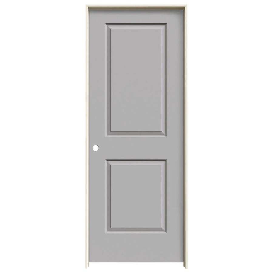 JELD-WEN Driftwood Prehung Solid Core 2-Panel Square Interior Door (Common: 24-in x 80-in; Actual: 25.562-in x 81.688-in)