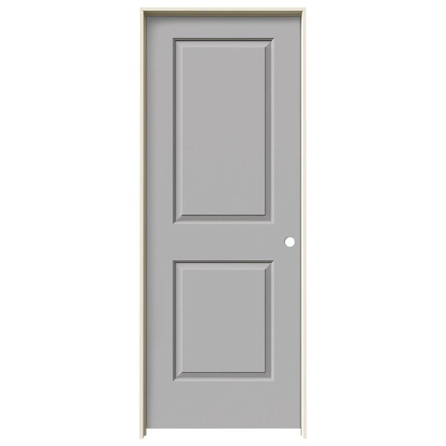 JELD-WEN Cambridge Driftwood 2-panel Square Single Prehung Interior Door (Common: 24-in x 80-in; Actual: 25.562-in x 81.688-in)