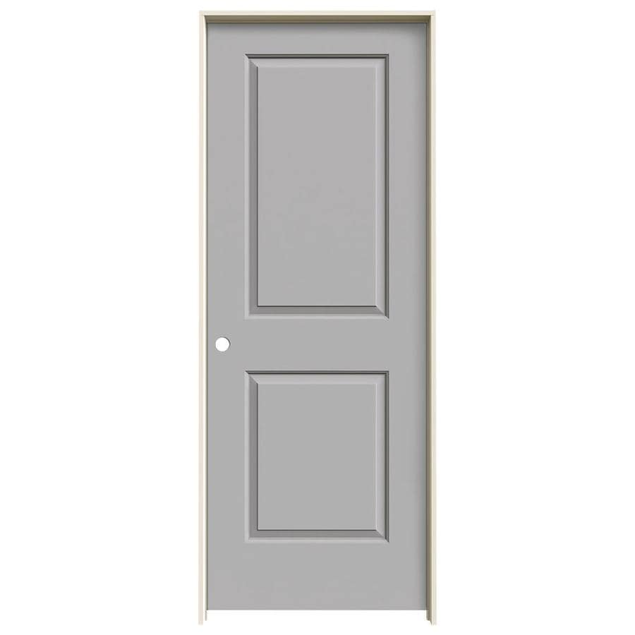 JELD-WEN Cambridge Driftwood 2-panel Square Single Prehung Interior Door (Common: 30-in x 80-in; Actual: 31.5620-in x 81.6880-in)