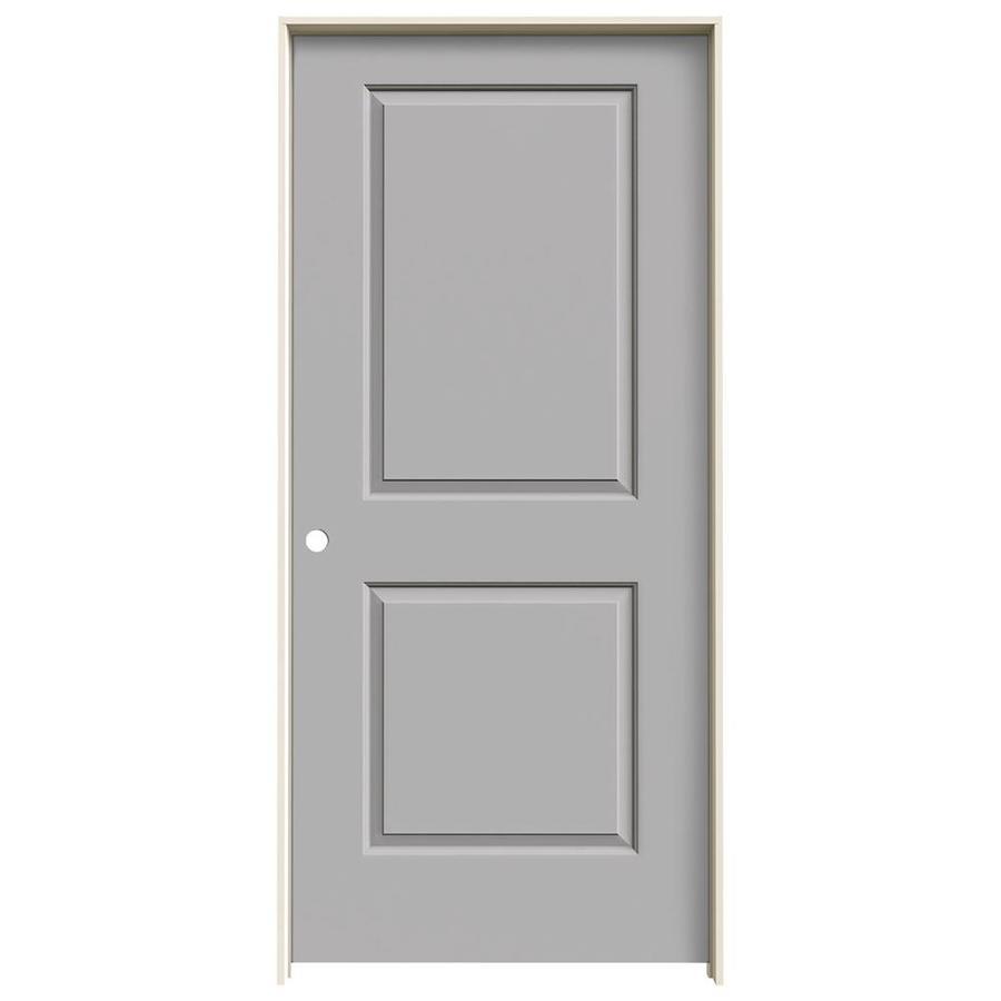 JELD-WEN Cambridge Driftwood Prehung Solid Core 2-Panel Square Interior Door (Common: 36-in x 80-in; Actual: 37.562-in x 81.688-in)