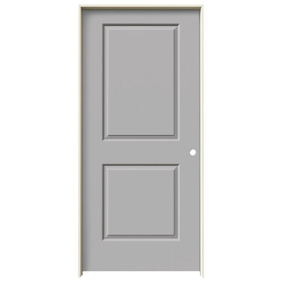 JELD-WEN Cambridge Driftwood Prehung Solid Core 2-Panel Square Interior Door (Common: 36-in x 80-in; Actual: 37.562-in x 81.688-in)
