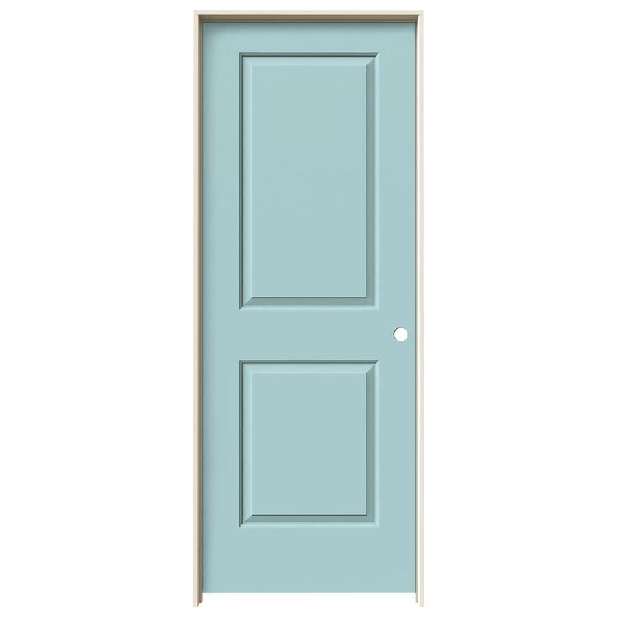 JELD-WEN Sea Mist Prehung Solid Core 2-Panel Square Interior Door (Common: 28-in x 80-in; Actual: 29.562-in x 81.688-in)