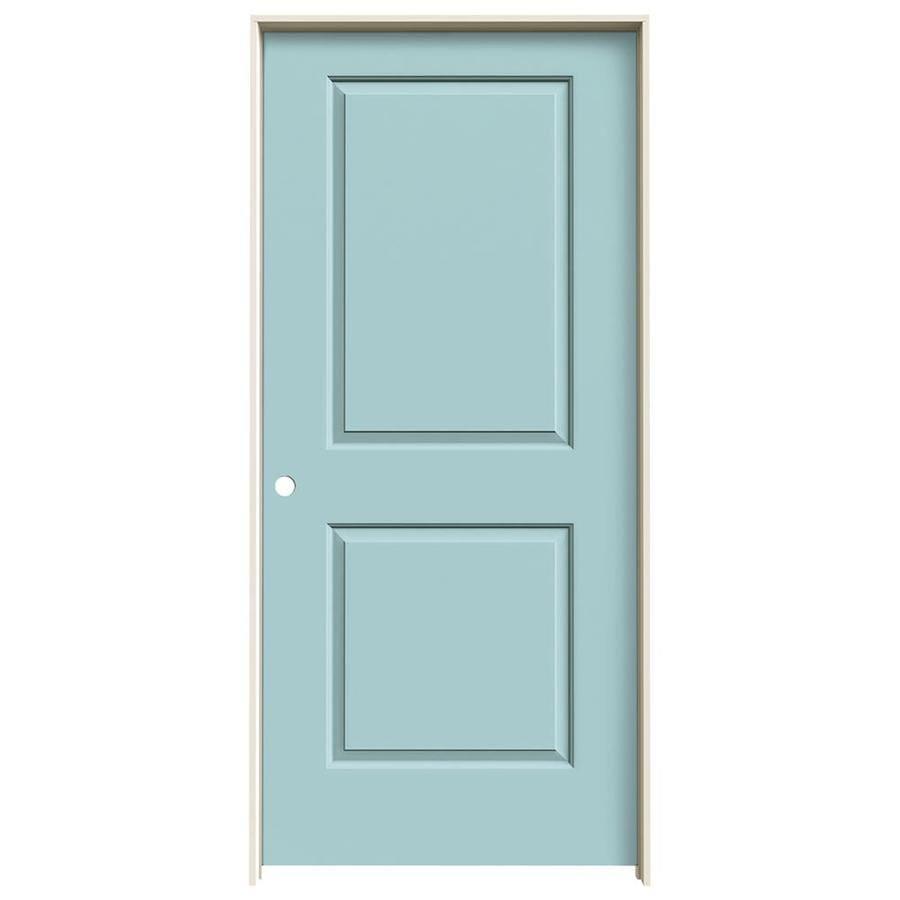 JELD-WEN Cambridge Sea Mist Single Prehung Interior Door (Common: 36-in x 80-in; Actual: 37.5620-in x 81.6880-in)