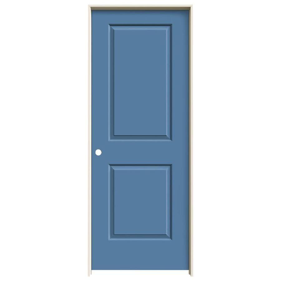 JELD-WEN Blue Heron Prehung Solid Core 2-Panel Square Interior Door (Common: 28-in x 80-in; Actual: 29.562-in x 81.688-in)