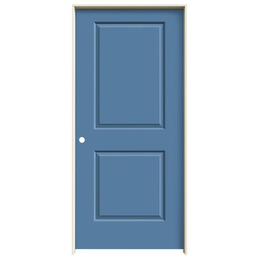JELD-WEN Cambridge Blue Heron 2-panel Square Single Prehung Interior Door (Common: 36-in x 80-in; Actual: 37.562-in x 81.688-in)