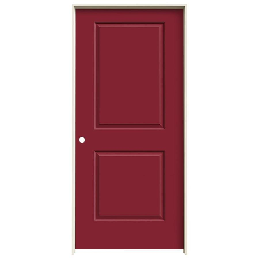 JELD-WEN Cambridge Barn Red Prehung Solid Core 2-Panel Square Interior Door (Common: 36-in x 80-in; Actual: 37.562-in x 81.688-in)