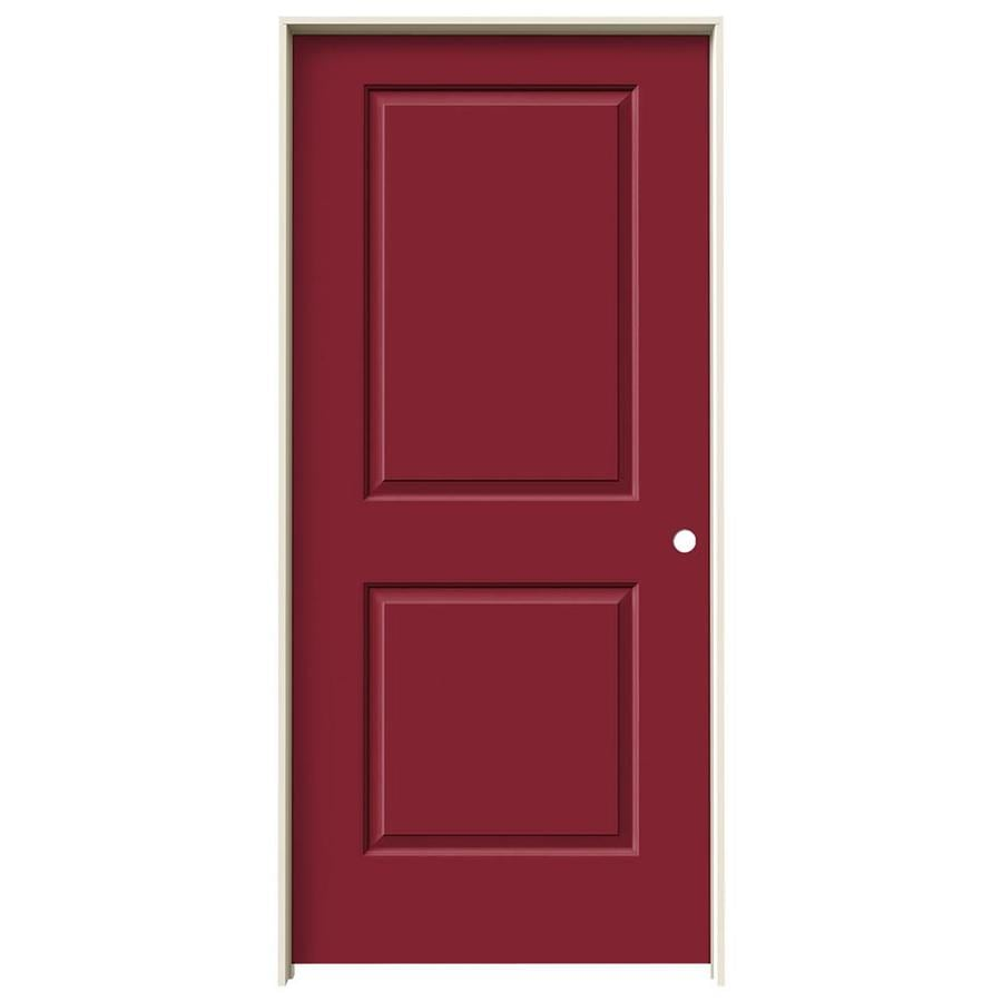 JELD-WEN Cambridge Barn Red Solid Core Molded Composite Single Prehung Interior Door (Common: 36-in x 80-in; Actual: 37.5620-in x 81.6880-in)