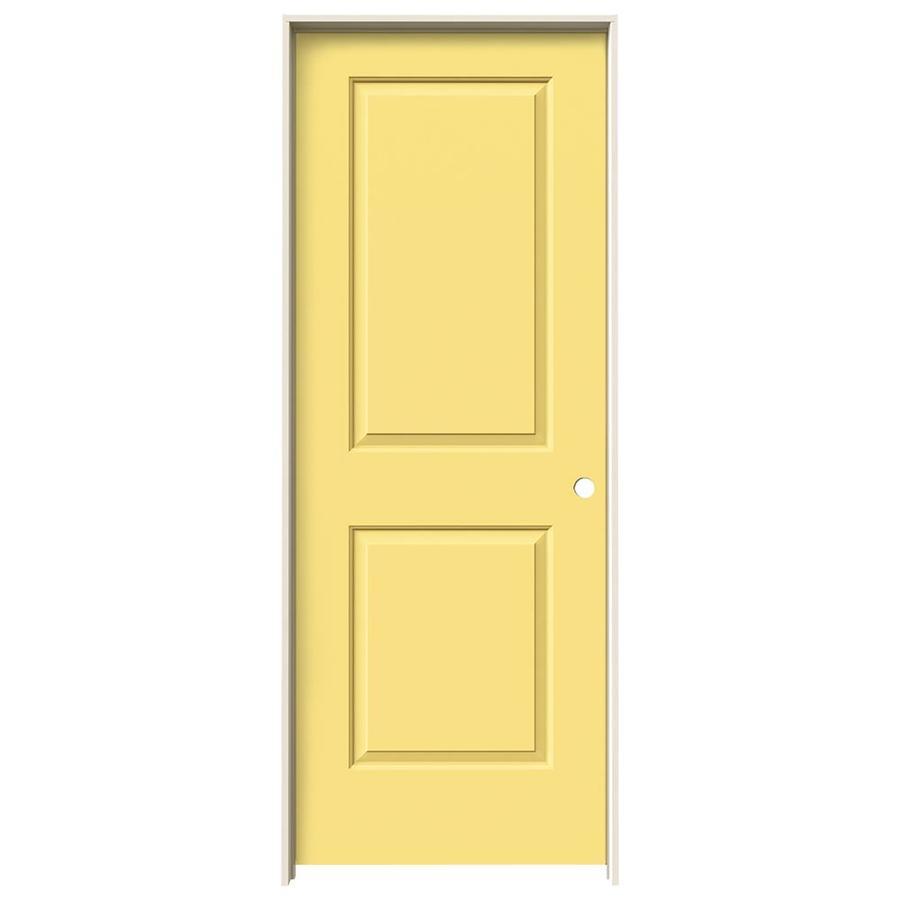 JELD-WEN Cambridge Marigold 2-panel Square Single Prehung Interior Door (Common: 24-in x 80-in; Actual: 25.562-in x 81.688-in)