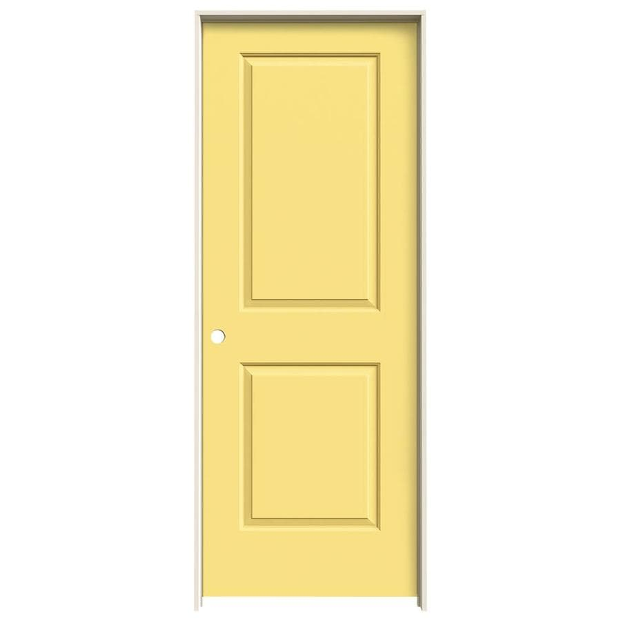 JELD-WEN Cambridge Marigold 2-panel Square Single Prehung Interior Door (Common: 30-in x 80-in; Actual: 31.562-in x 81.688-in)
