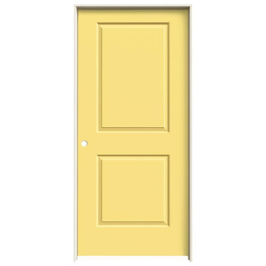 JELD-WEN Marigold Prehung Solid Core 2-Panel Square Interior Door (Common: 36-in x 80-in; Actual: 37.562-in x 81.688-in)