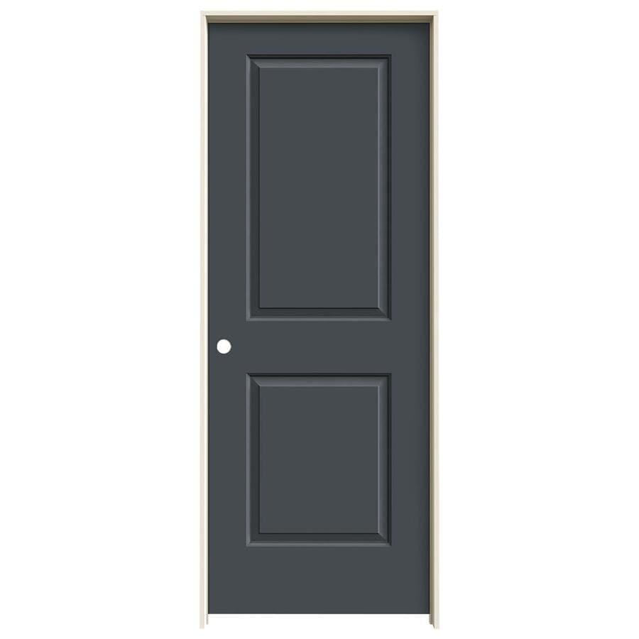 JELD-WEN Cambridge Slate Prehung Solid Core 2-Panel Square Interior Door (Common: 24-in x 80-in; Actual: 25.562-in x 81.688-in)