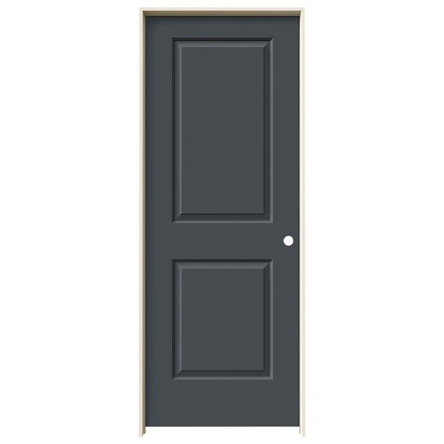 JELD-WEN Slate Prehung Solid Core 2-Panel Square Interior Door (Common: 30-in x 80-in; Actual: 31.562-in x 81.688-in)