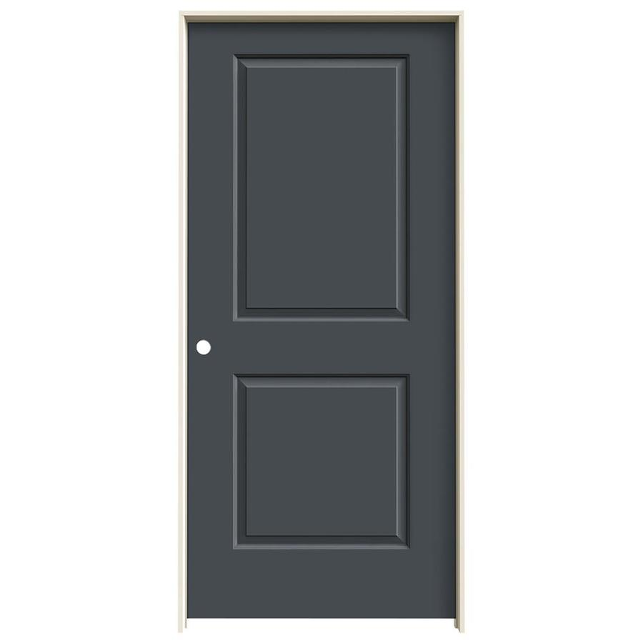 JELD-WEN Slate Prehung Solid Core 2-Panel Square Interior Door (Common: 36-in x 80-in; Actual: 37.562-in x 81.688-in)