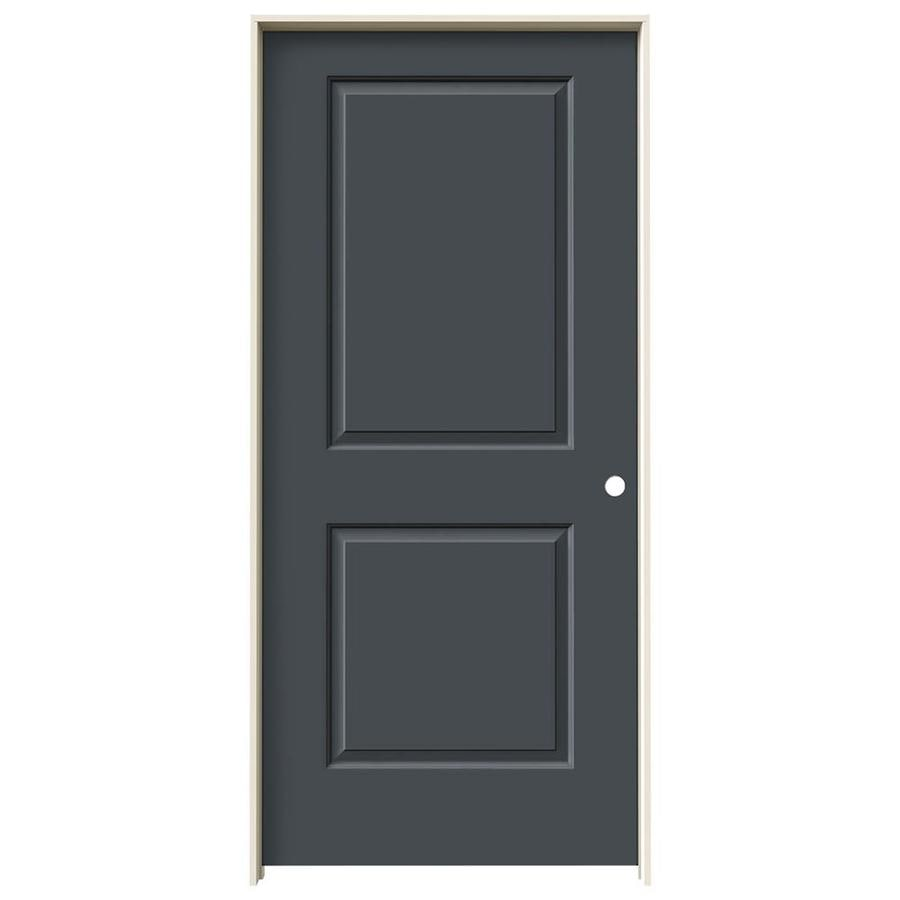 JELD-WEN Cambridge Slate Prehung Solid Core 2-Panel Square Interior Door (Common: 36-in x 80-in; Actual: 37.562-in x 81.688-in)