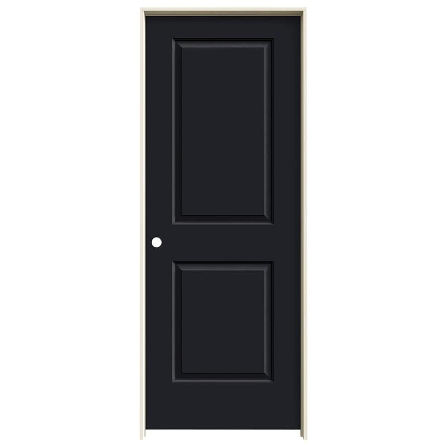 JELD-WEN Cambridge Midnight Prehung Solid Core 2-Panel Square Interior Door (Common: 24-in x 80-in; Actual: 25.562-in x 81.688-in)