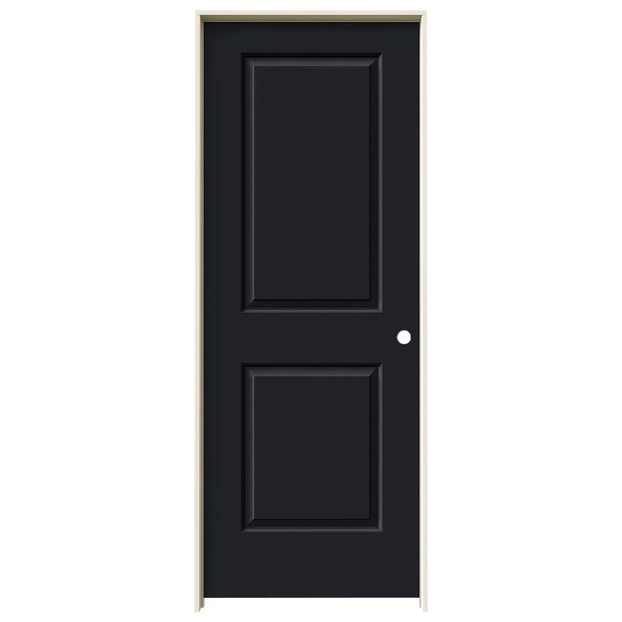 JELD-WEN Cambridge Midnight 2-panel Square Single Prehung Interior Door (Common: 24-in x 80-in; Actual: 25.562-in x 81.688-in)