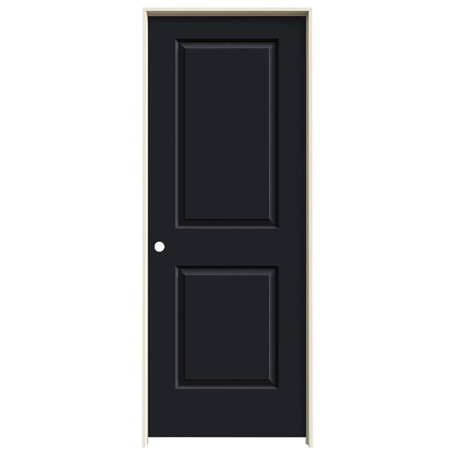 JELD-WEN Cambridge Midnight Prehung Solid Core 2-Panel Square Interior Door (Common: 28-in x 80-in; Actual: 29.562-in x 81.688-in)