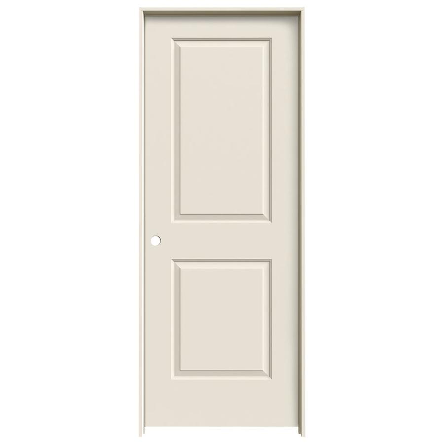 JELD-WEN Cambridge Primed Solid Core Molded Composite Single Prehung Interior Door (Common: 30-in x 80-in; Actual: 31.5620-in x 81.6880-in)
