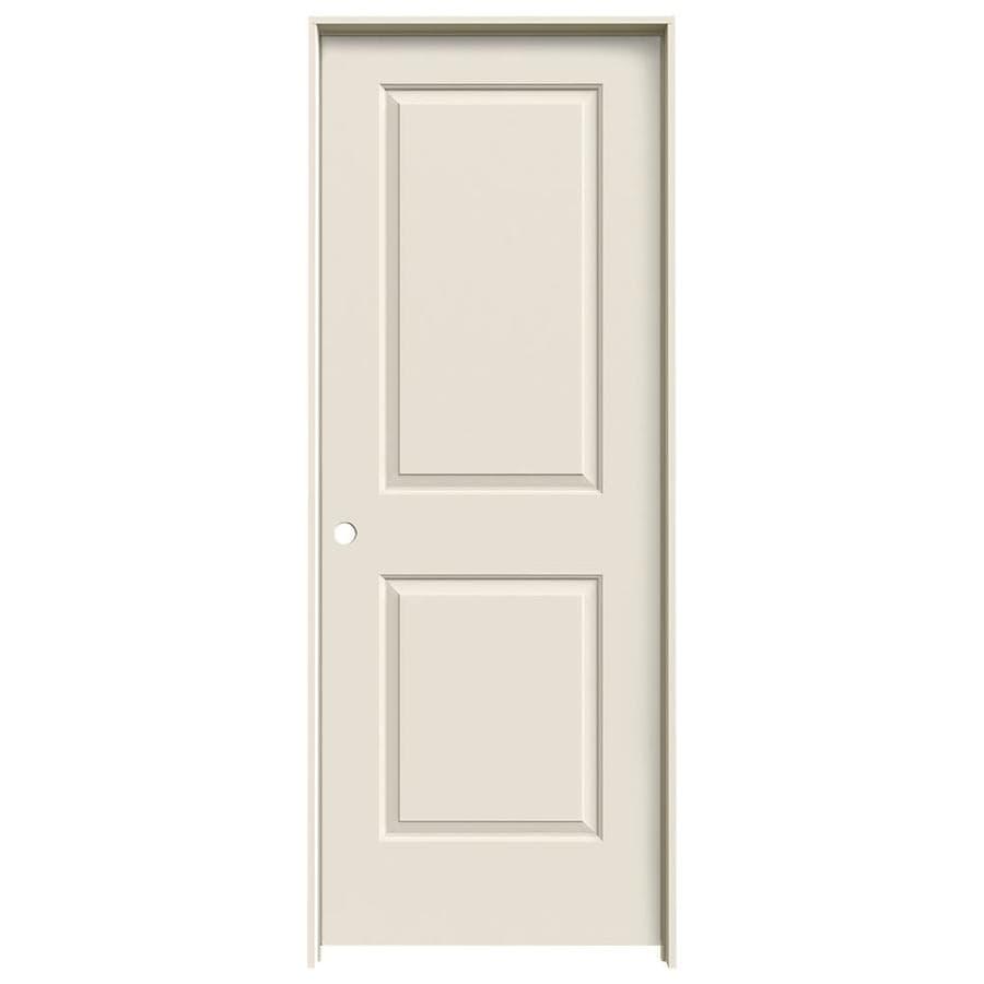JELD-WEN Prehung Solid Core 2-Panel Square Interior Door (Common: 32-in x 80-in; Actual: 33.562-in x 81.688-in)