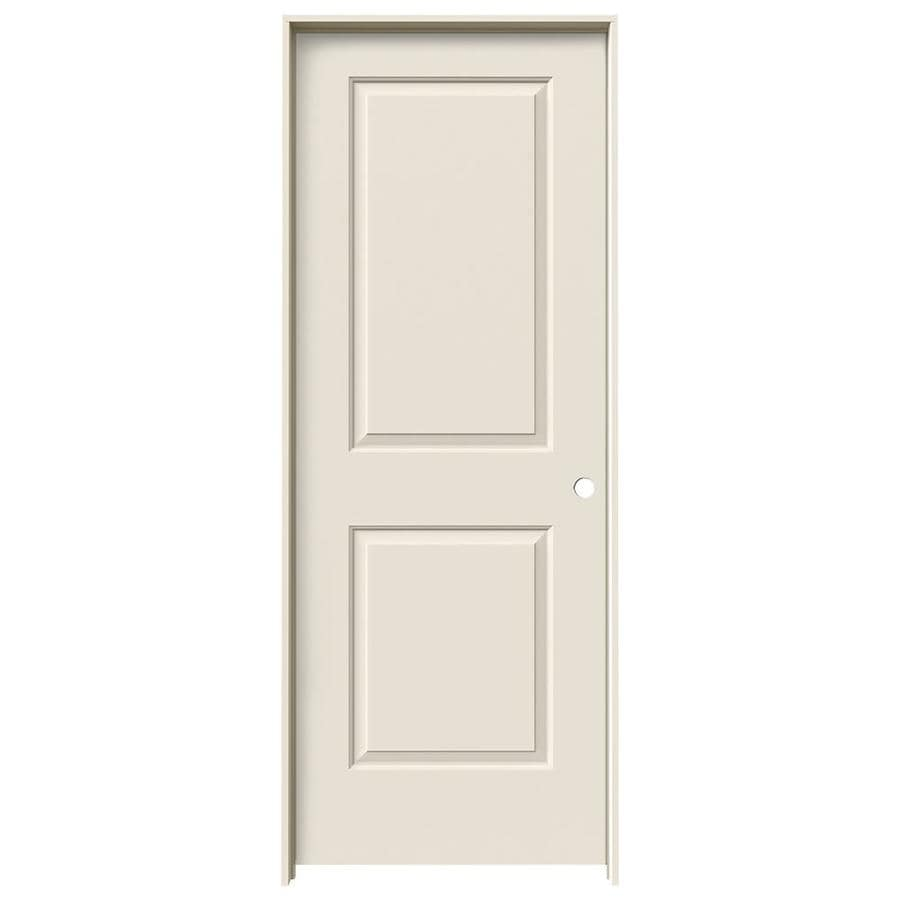 JELD-WEN Prehung Solid Core 2-Panel Square Interior Door (Common: 32-in x 80-in; Actual: 33.562-in x 81.688-in)