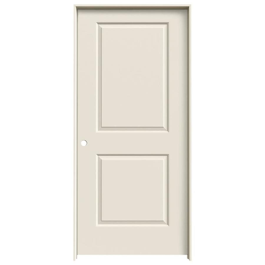 JELD-WEN Cambridge Primed Solid Core Molded Composite Single Prehung Interior Door (Common: 36-in x 80-in; Actual: 37.562-in x 81.688-in)