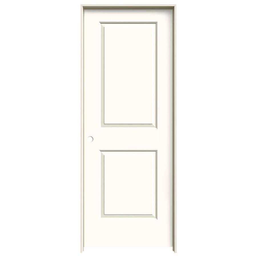 JELD-WEN Cambridge White 2-panel Square Single Prehung Interior Door (Common: 30-in x 80-in; Actual: 31.562-in x 81.688-in)