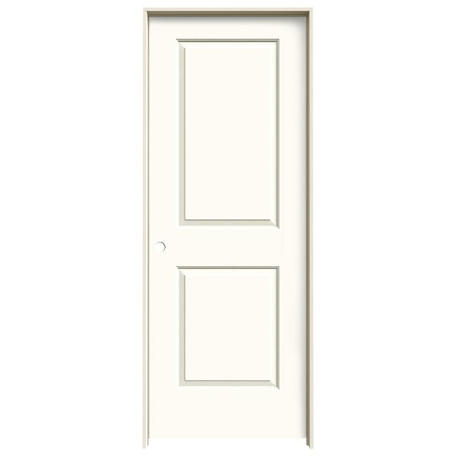 JELD-WEN Cambridge White Hollow Core Molded Composite Single Prehung Interior Door (Common: 32-in x 80-in; Actual: 33.562-in x 81.688-in)