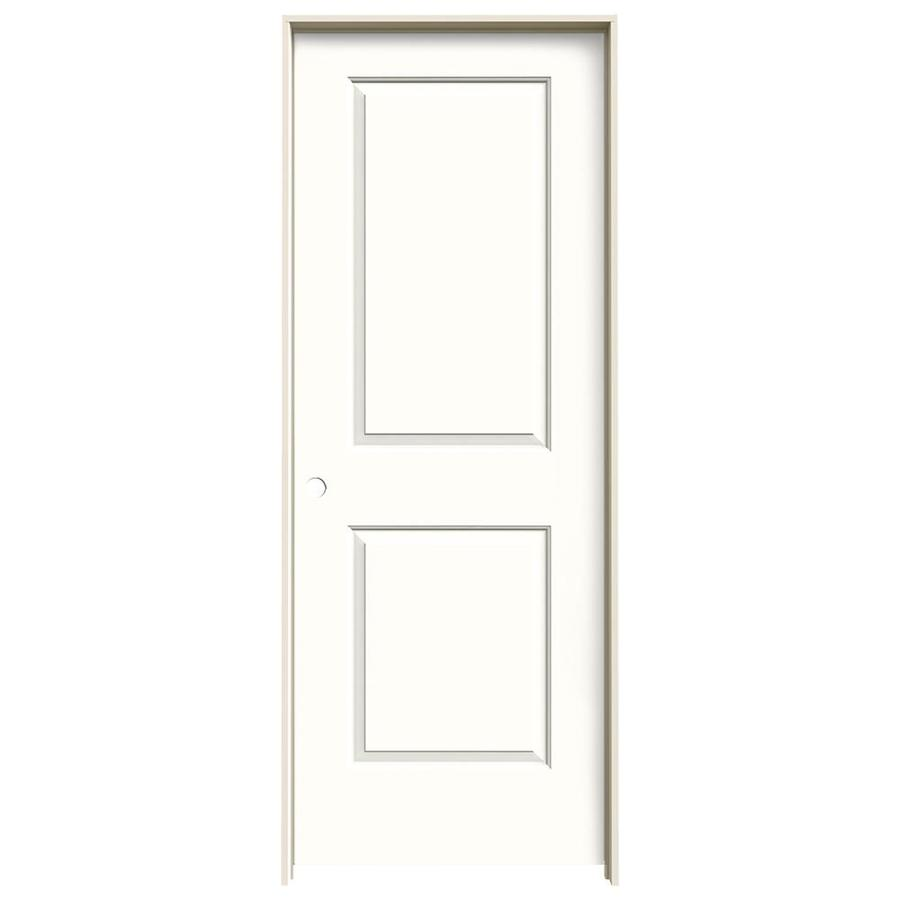 JELD-WEN Cambridge Snow Storm 2-panel Square Single Prehung Interior Door (Common: 24-in x 80-in; Actual: 25.562-in x 81.688-in)