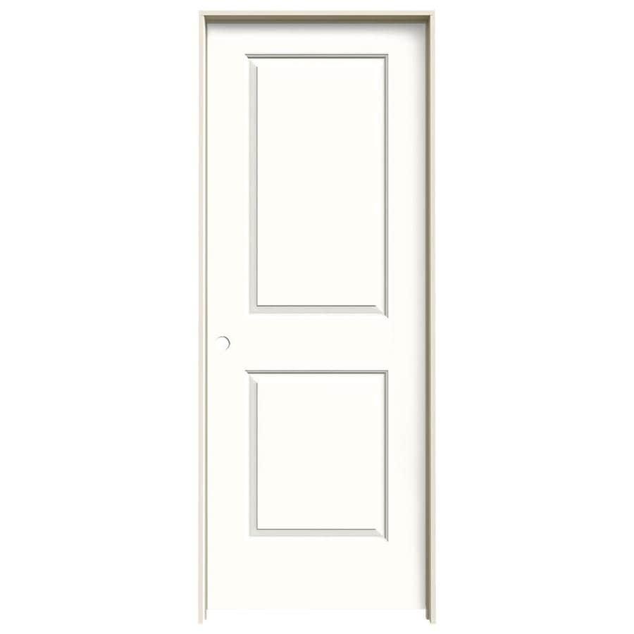 JELD-WEN Cambridge Snow Storm Single Prehung Interior Door (Common: 30-in x 80-in; Actual: 31.562-in x 81.688-in)