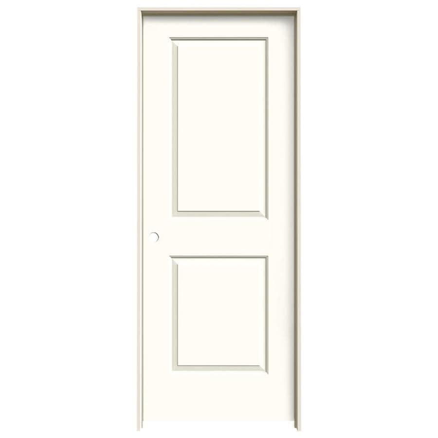 JELD-WEN Cambridge Moonglow 2-panel Square Single Prehung Interior Door (Common: 32-in x 80-in; Actual: 33.562-in x 81.688-in)