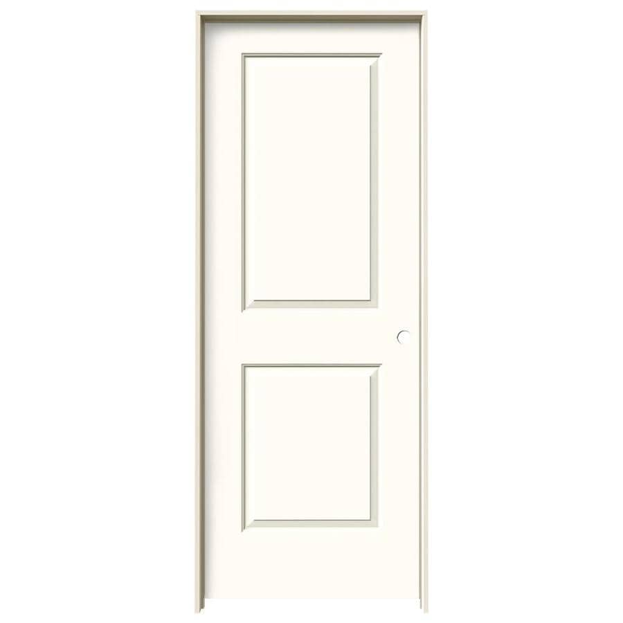JELD-WEN Cambridge Moonglow Hollow Core Molded Composite Single Prehung Interior Door (Common: 32-in x 80-in; Actual: 33.5620-in x 81.6880-in)