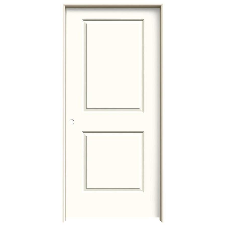 JELD-WEN Cambridge Moonglow 2-panel Square Single Prehung Interior Door (Common: 36-in x 80-in; Actual: 37.562-in x 81.688-in)