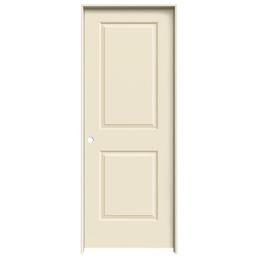 JELD-WEN Cream-N-Sugar Prehung Hollow Core 2-Panel Square Interior Door (Common: 32-in x 80-in; Actual: 33.562-in x 81.688-in)