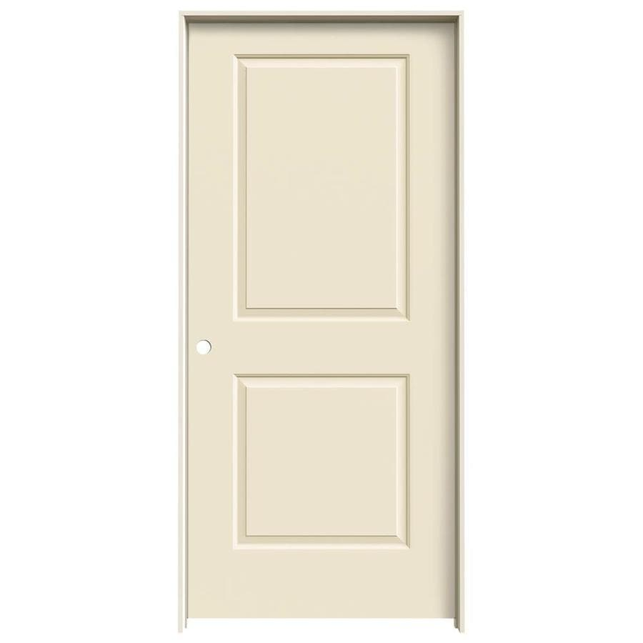 JELD-WEN Cream-N-Sugar Prehung Hollow Core 2-Panel Square Interior Door (Common: 36-in x 80-in; Actual: 37.562-in x 81.688-in)