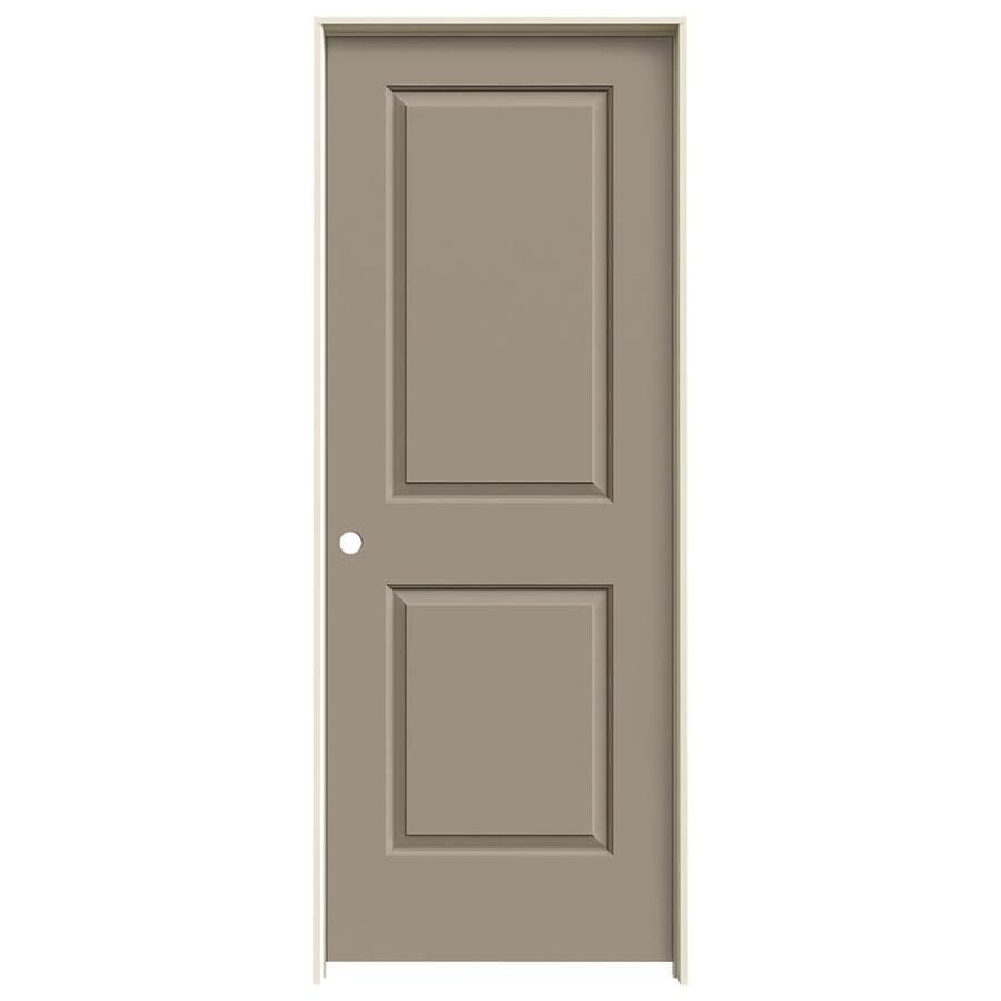 JELD-WEN Sand Piper Prehung Hollow Core 2-Panel Square Interior Door (Common: 28-in x 80-in; Actual: 29.562-in x 81.688-in)