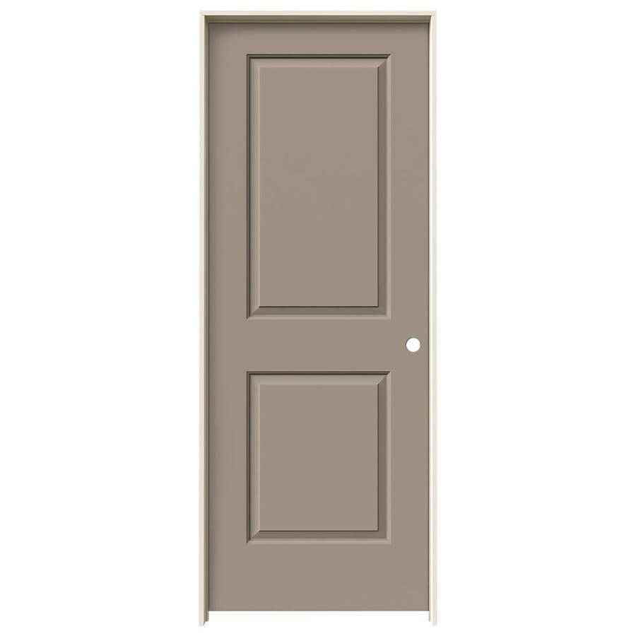 JELD-WEN Cambridge Sand Piper 2-panel Square Single Prehung Interior Door (Common: 30-in x 80-in; Actual: 31.562-in x 81.688-in)