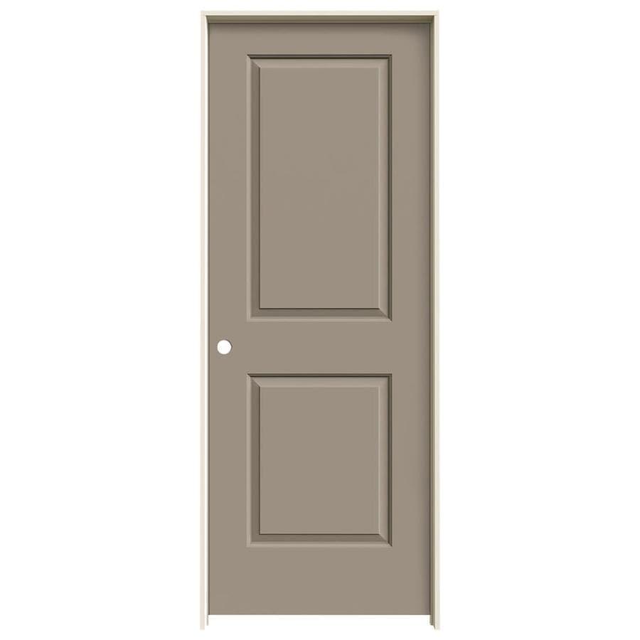 JELD-WEN Cambridge Sand Piper Prehung Hollow Core 2-Panel Square Interior Door (Common: 32-in x 80-in; Actual: 33.562-in x 81.688-in)