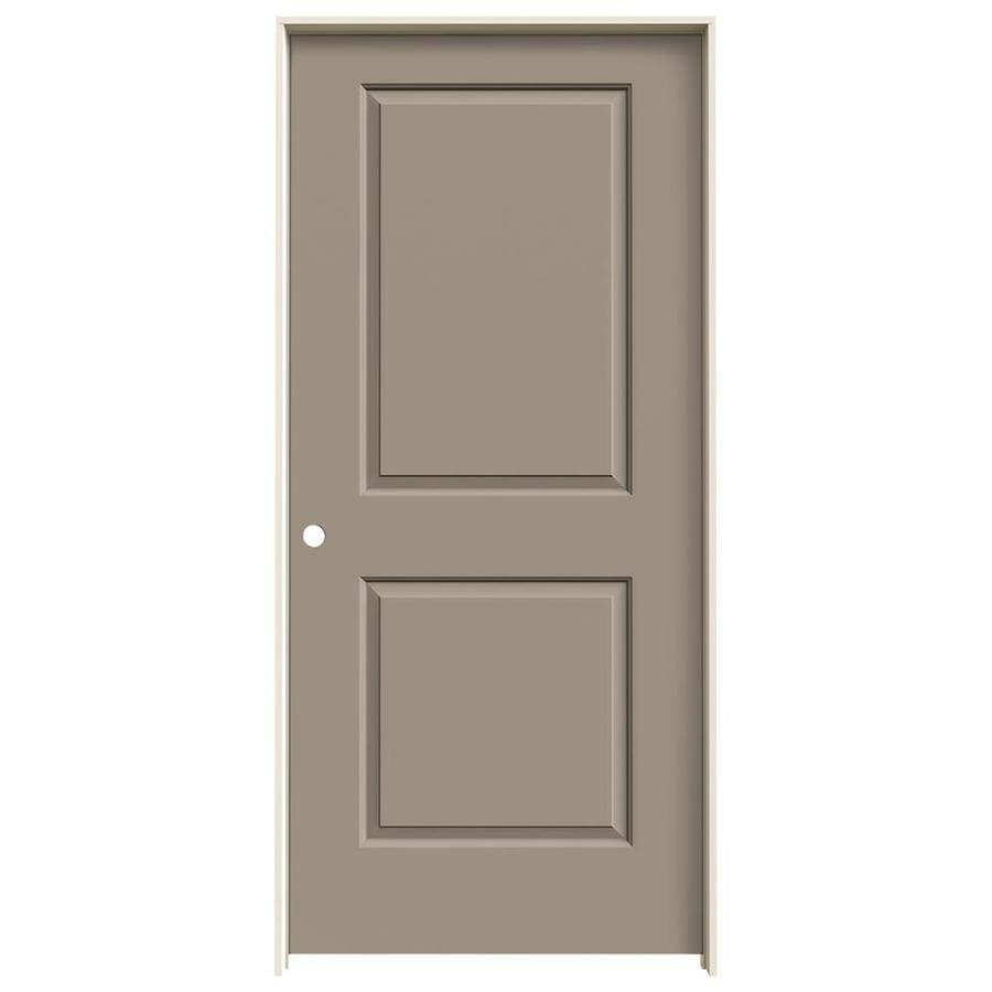 JELD-WEN Cambridge Sand Piper Prehung Hollow Core 2-Panel Square Interior Door (Common: 36-in x 80-in; Actual: 37.562-in x 81.688-in)
