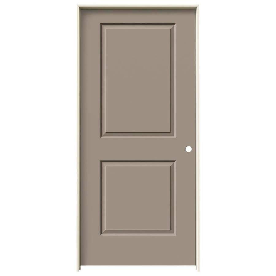 JELD-WEN Sand Piper Prehung Hollow Core 2-Panel Square Interior Door (Common: 36-in x 80-in; Actual: 37.562-in x 81.688-in)