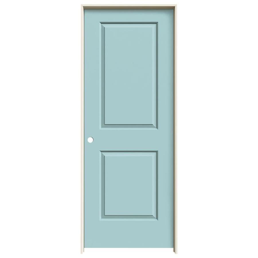 JELD-WEN Sea Mist Prehung Hollow Core 2-Panel Square Interior Door (Common: 24-in x 80-in; Actual: 25.562-in x 81.688-in)