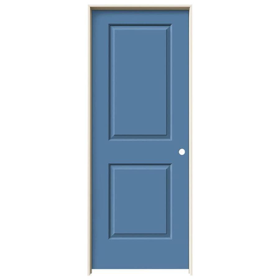 JELD-WEN Cambridge Blue Heron Prehung Hollow Core 2-Panel Square Interior Door (Common: 30-in x 80-in; Actual: 31.562-in x 81.688-in)