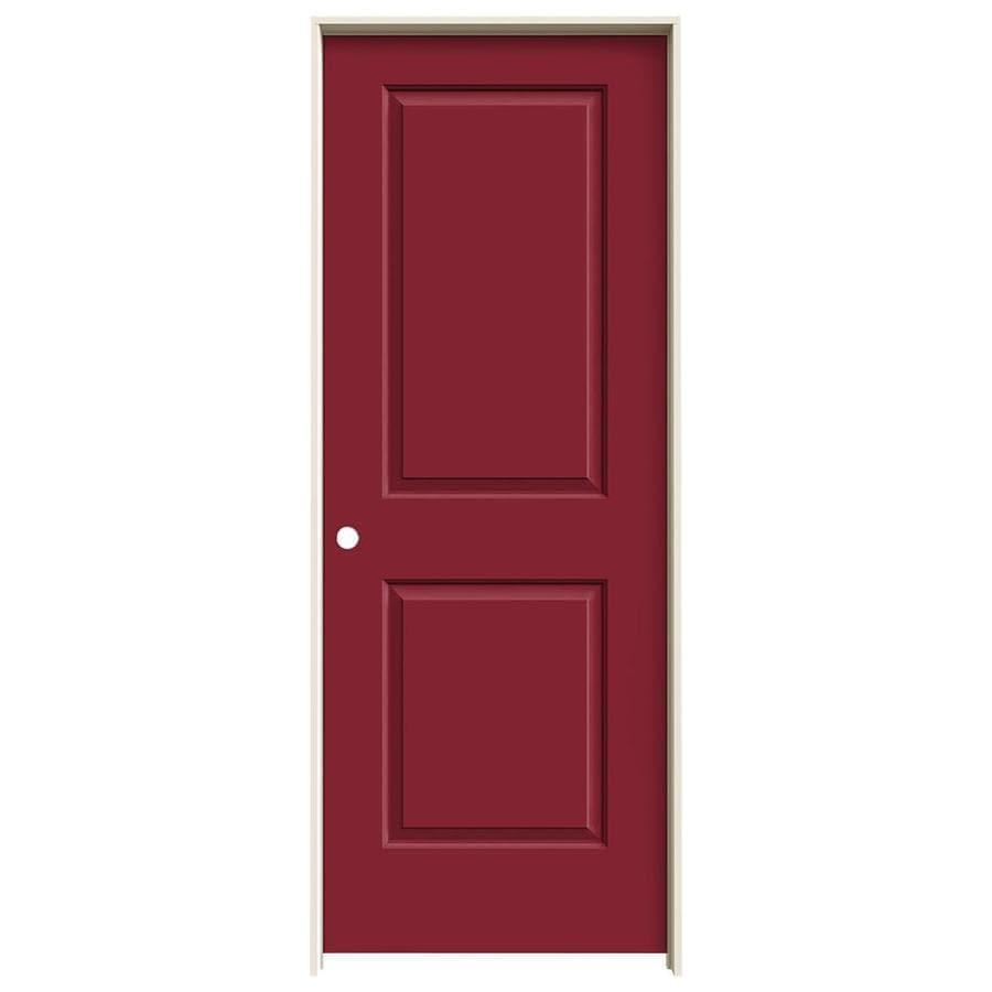 JELD-WEN Cambridge Barn Red Prehung Hollow Core 2-Panel Interior Door (Common: 24-in x 80-in; Actual: 25.562-in x 81.688-in)