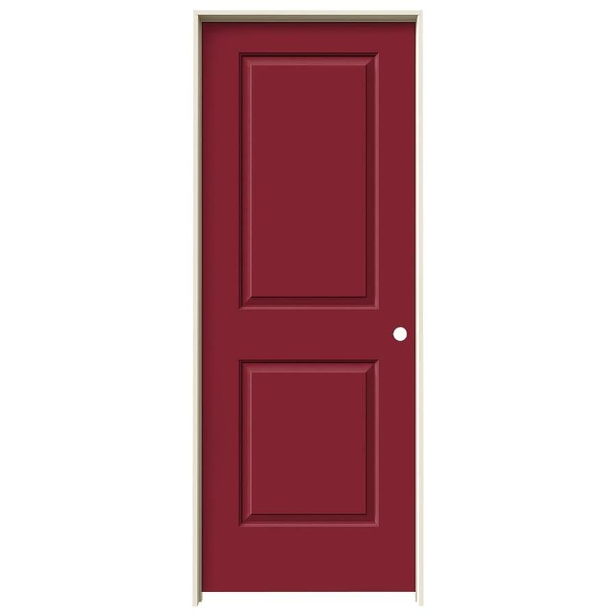 JELD-WEN Cambridge Barn Red Hollow Core Molded Composite Single Prehung Interior Door (Common: 24-in x 80-in; Actual: 25.5620-in x 81.6880-in)