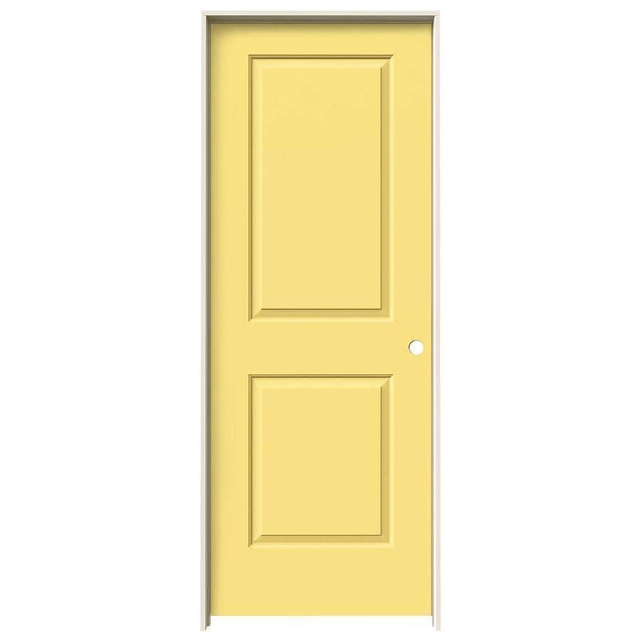 JELD-WEN Cambridge Marigold Hollow Core Molded Composite Single Prehung Interior Door (Common: 24-in x 80-in; Actual: 25.562-in x 81.688-in)