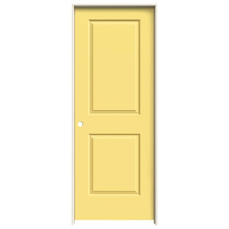 JELD-WEN Cambridge Marigold Prehung Hollow Core 2-Panel Square Interior Door (Common: 28-in x 80-in; Actual: 29.562-in x 81.688-in)